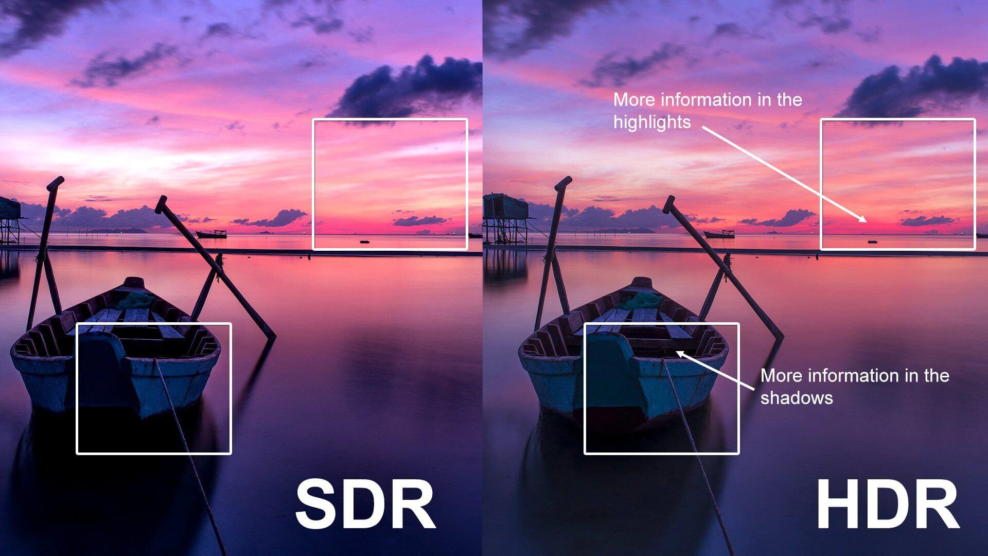 HDR - porównanie