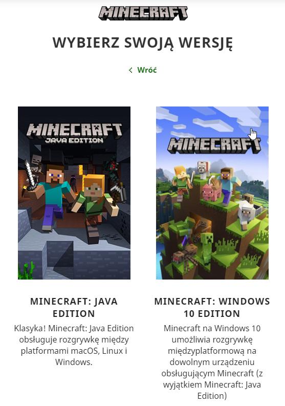 Minecraft edycje