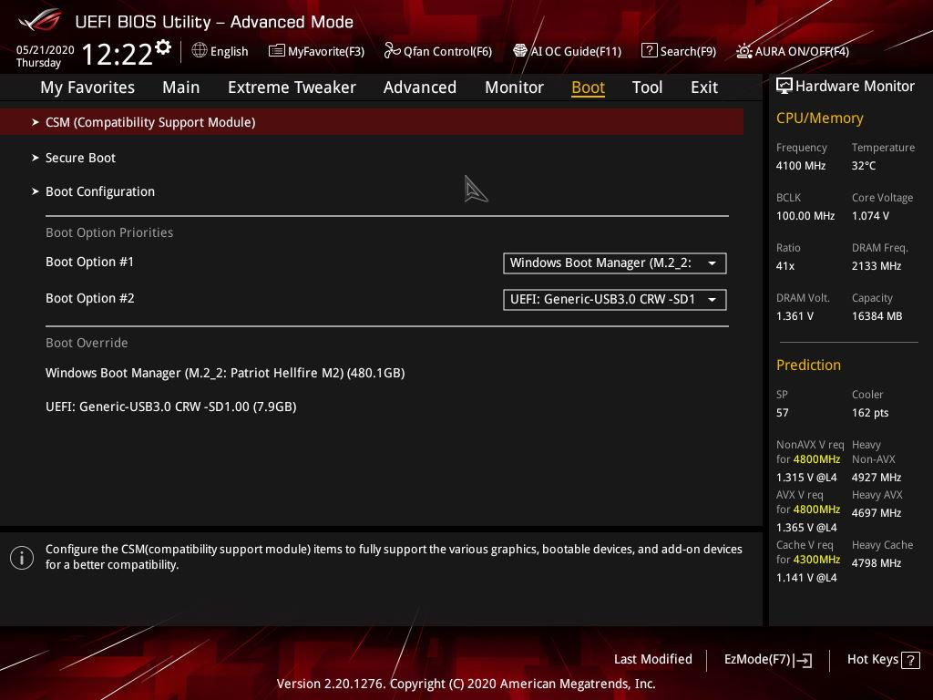 Asus ROG Maximus XII Extreme - BIOS UEFI