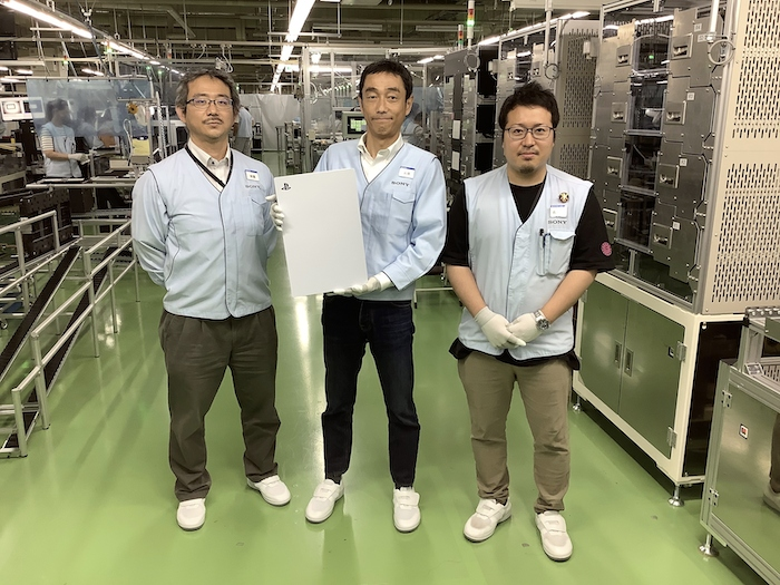 PS5 zdjęcie z fabryki