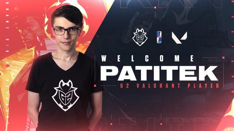 Patitek pierwszym Polakiem w dywizji Valorant G2 Esports