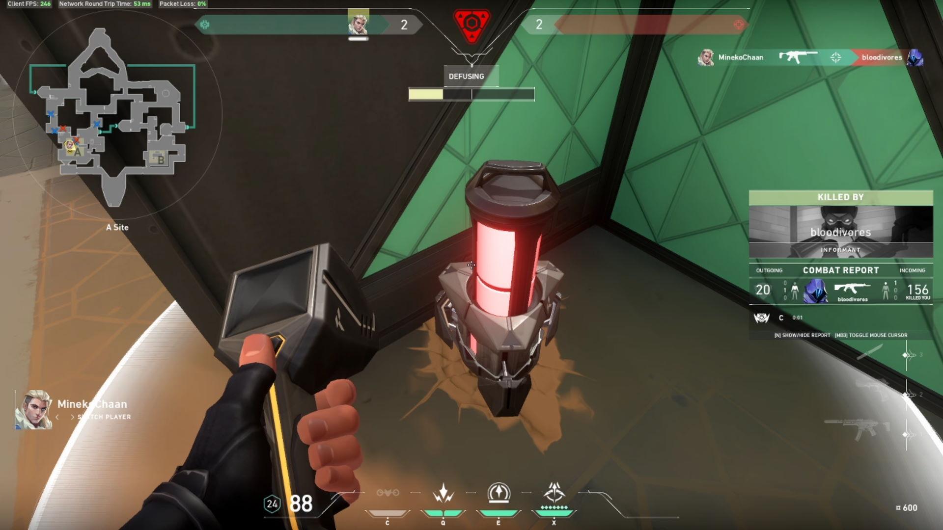 Valorant - rozbrajanie bomby