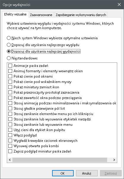 Jak zmienić ustawienia wizualne Windows 10
