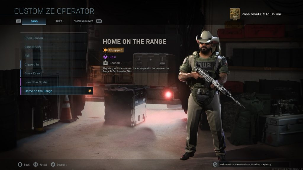 Infinity Ward Call of Duty skin