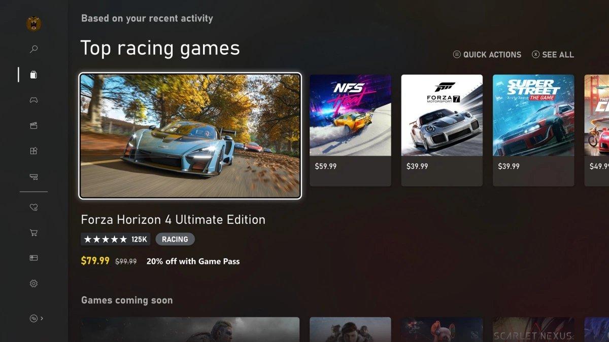 Xbox GUI