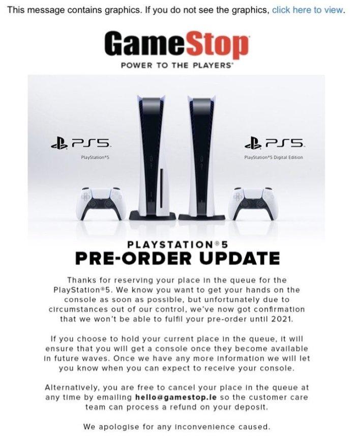 PS5 GameStop Irlandia