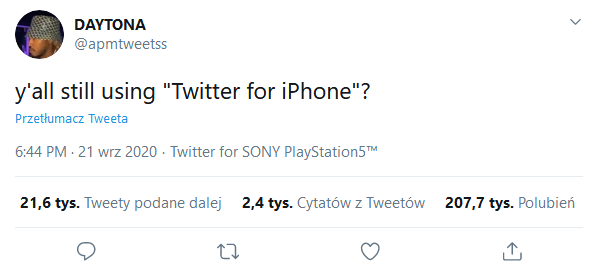 PS5 Twitter