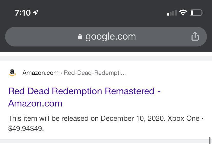 Red Dead Redemprion Remastered