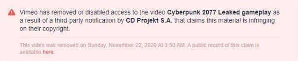 Cyberpunk 2077 Vimeo