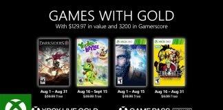 Games with Gold sierpień