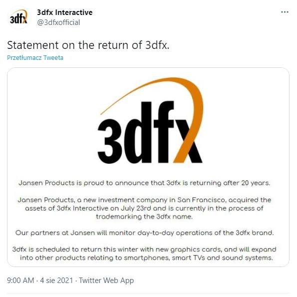 3dfx - tweet