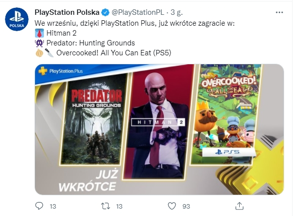 PS Plus wrzesień 2021